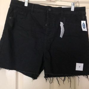 Old Navy black button front shorts